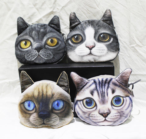 Coin purse-3d cat group2