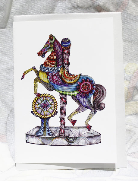Greeting cards-Rocking horse