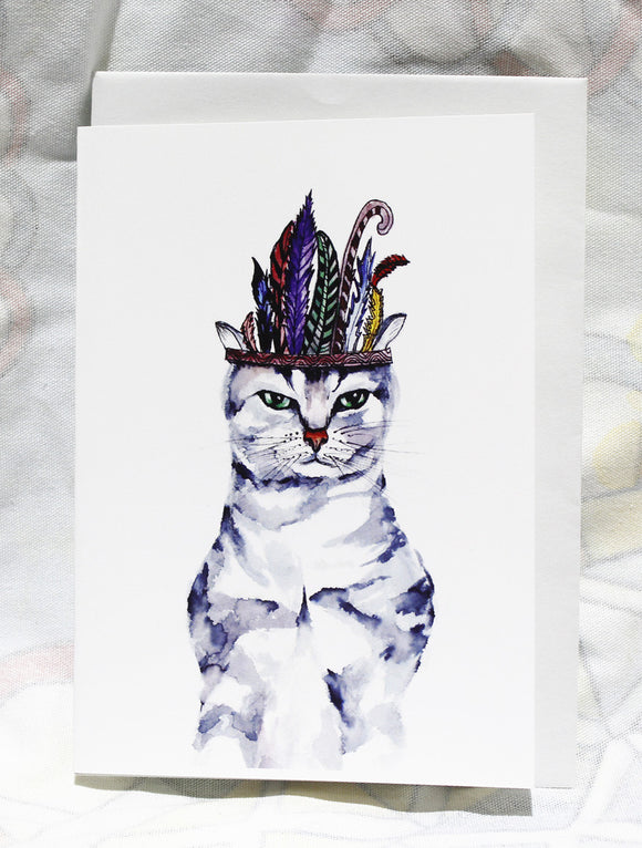 Greeting cards-Chef cat