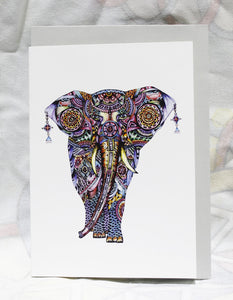 Greeting cards-Princess elephant
