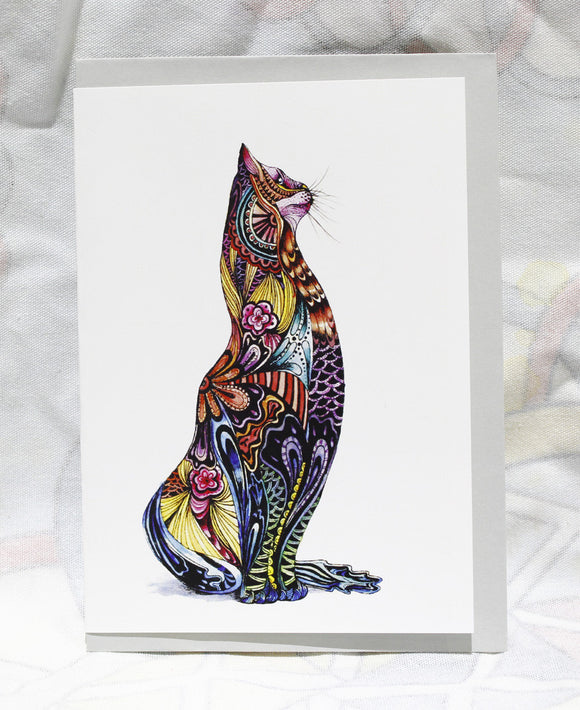 Greeting cards-Colorful Cat