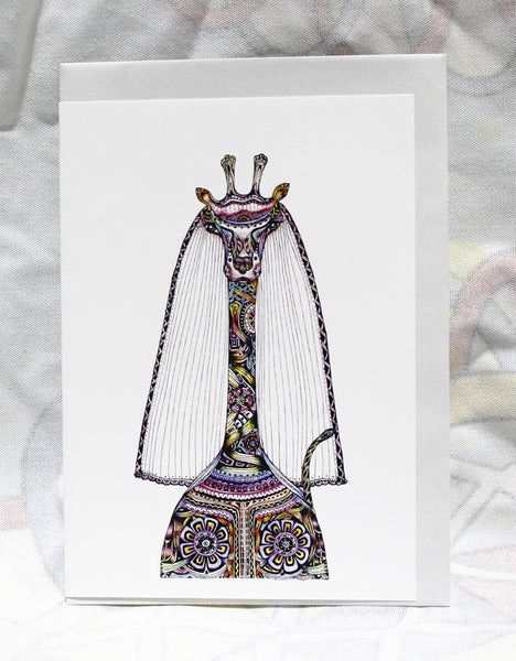 Greeting cards-Bride Giraffe