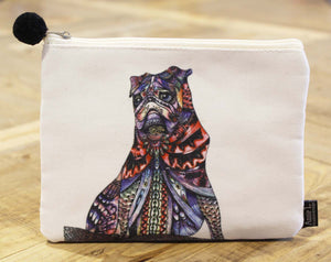 Canvas purse-Pug