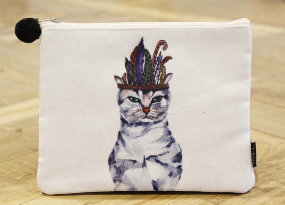 Canvas purse-chef cat