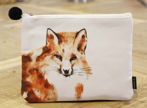 Canvas purse-Fox