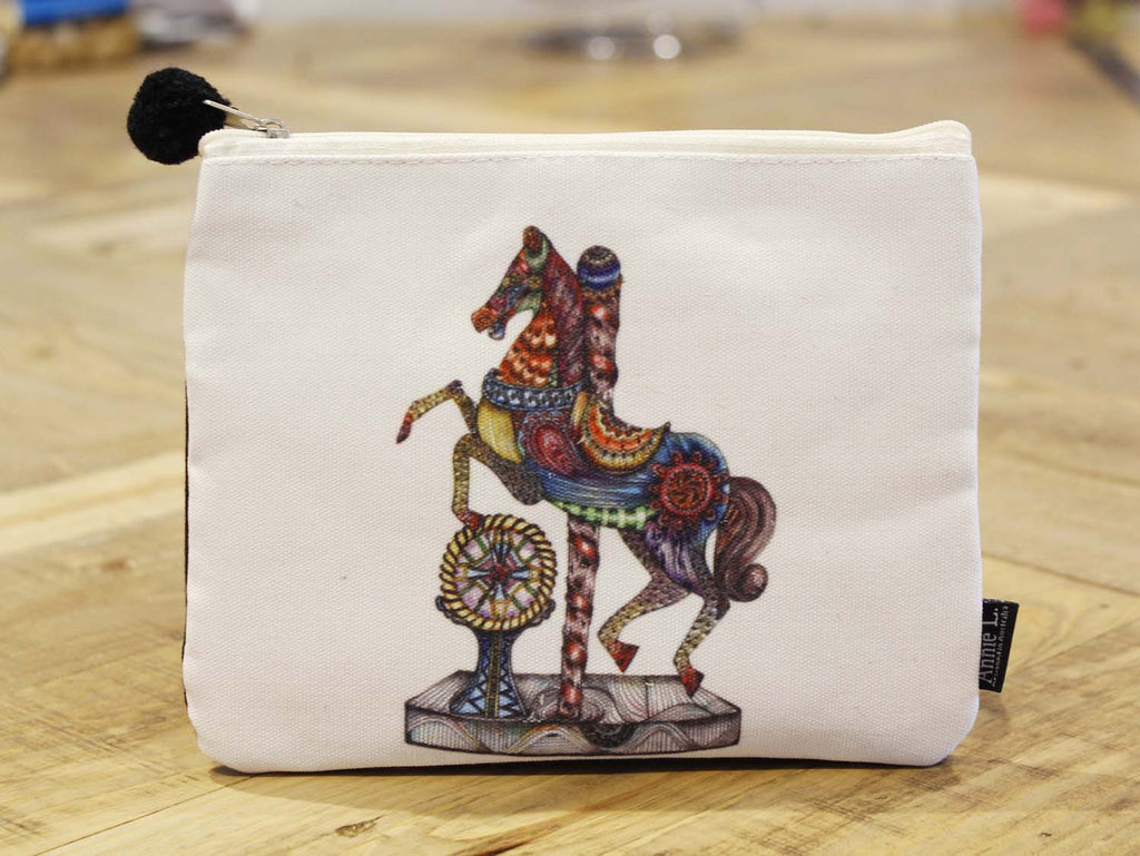 Canvas purse-Rocking Horse