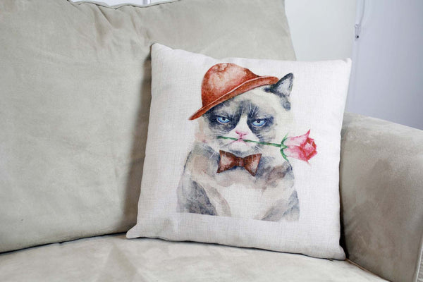 Cushion Cover-Grumpy cat