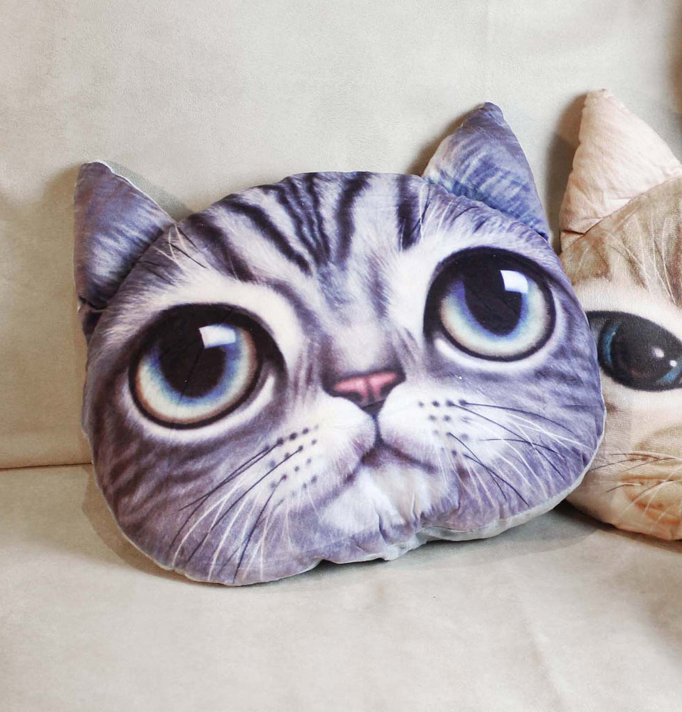 Cushion-3D Grey cat