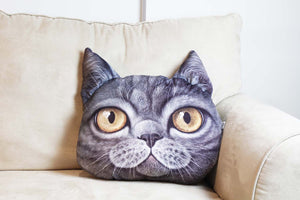 Cushion-3D Cat Black