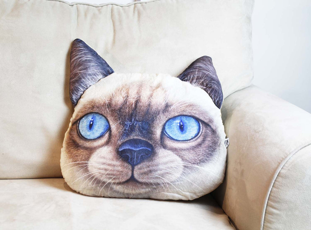 Cushion-3D Cat Beige