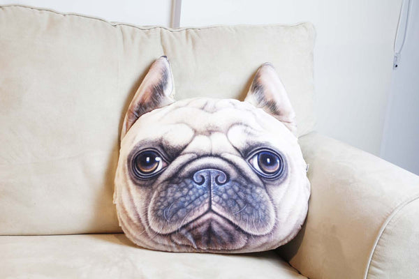 Cushion-3D French Bull dog