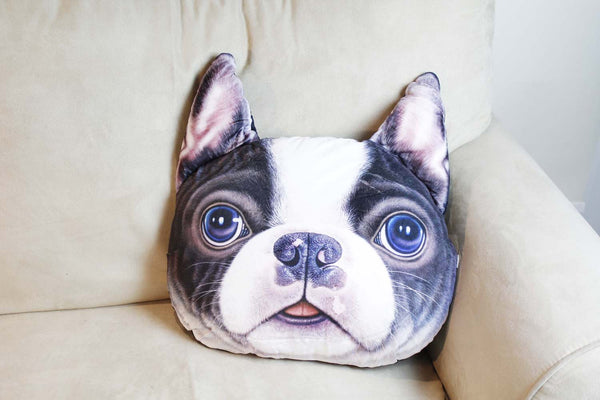 Cushion-3D Boston terrier