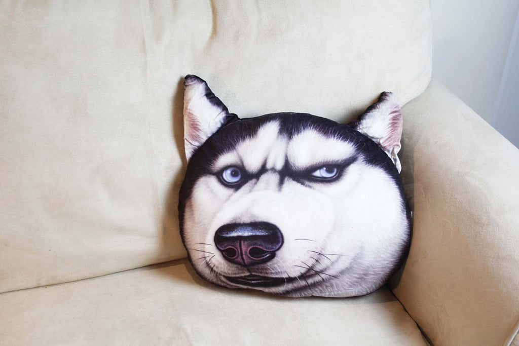 Cushion-3D Grumpy husky