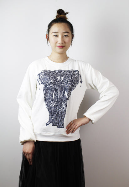 Sold-ACC Jumper-Elephant b&w