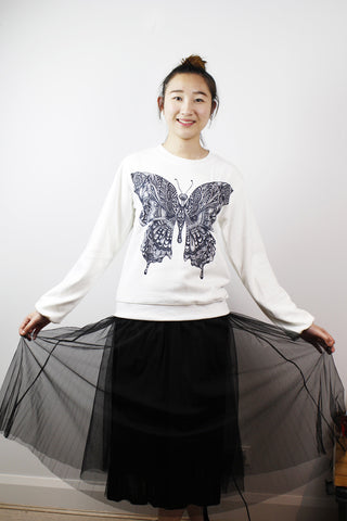 ACC Jumper-Black & white Butterfly