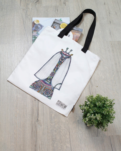 Tote bag-Bride Giraffe