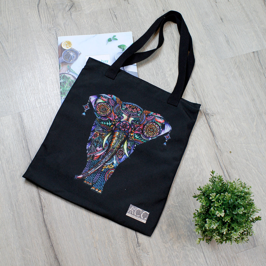 Tote bag-Princess Elephant