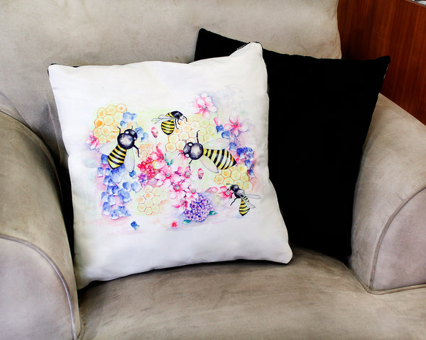 Cushion &  cover-Bees
