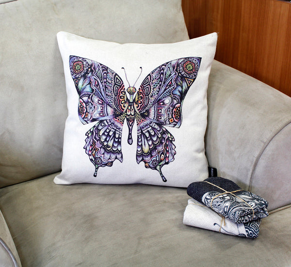Cushion &  cover-Butterfly colour
