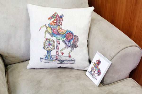 Cushion & Cover-Rocking Horse