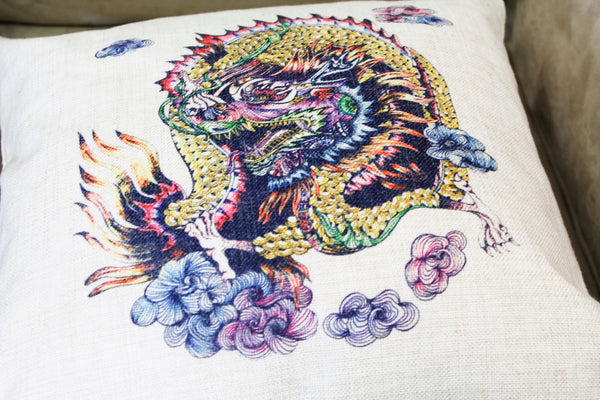 Cushion Cover-Dragon