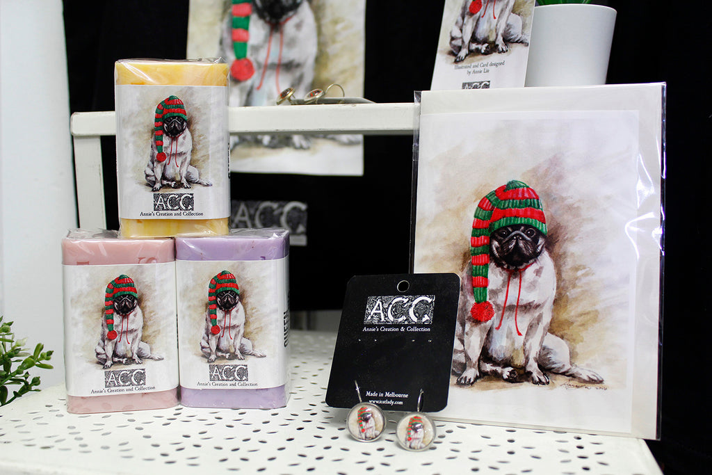 Greeting cards-XMAS Pug