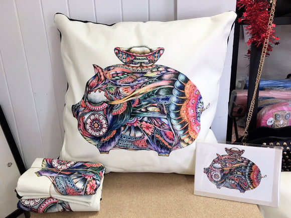 Cushion Cover-Miss Great pig