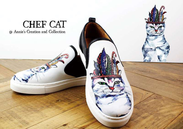 Leather shoes-Chef cat