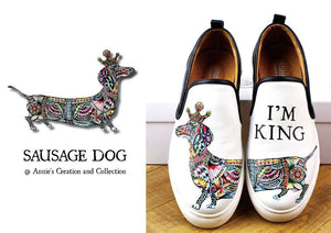 Leather shoes-Sausage dog
