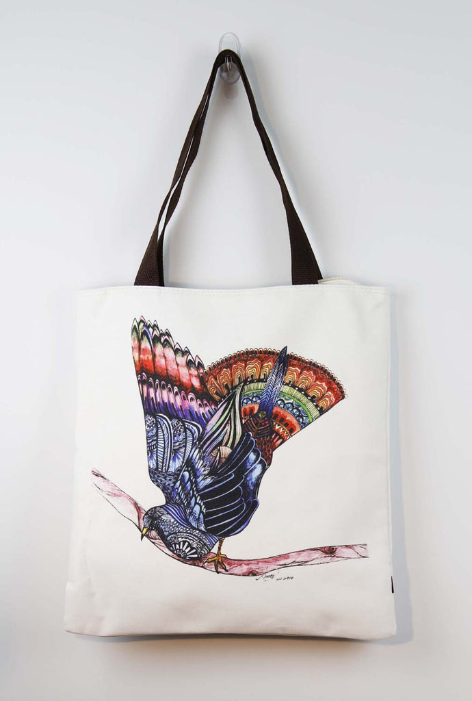 Tote bag-Flying bird