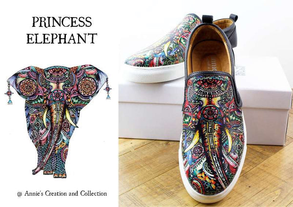 Leather shoes- Princess Elephant