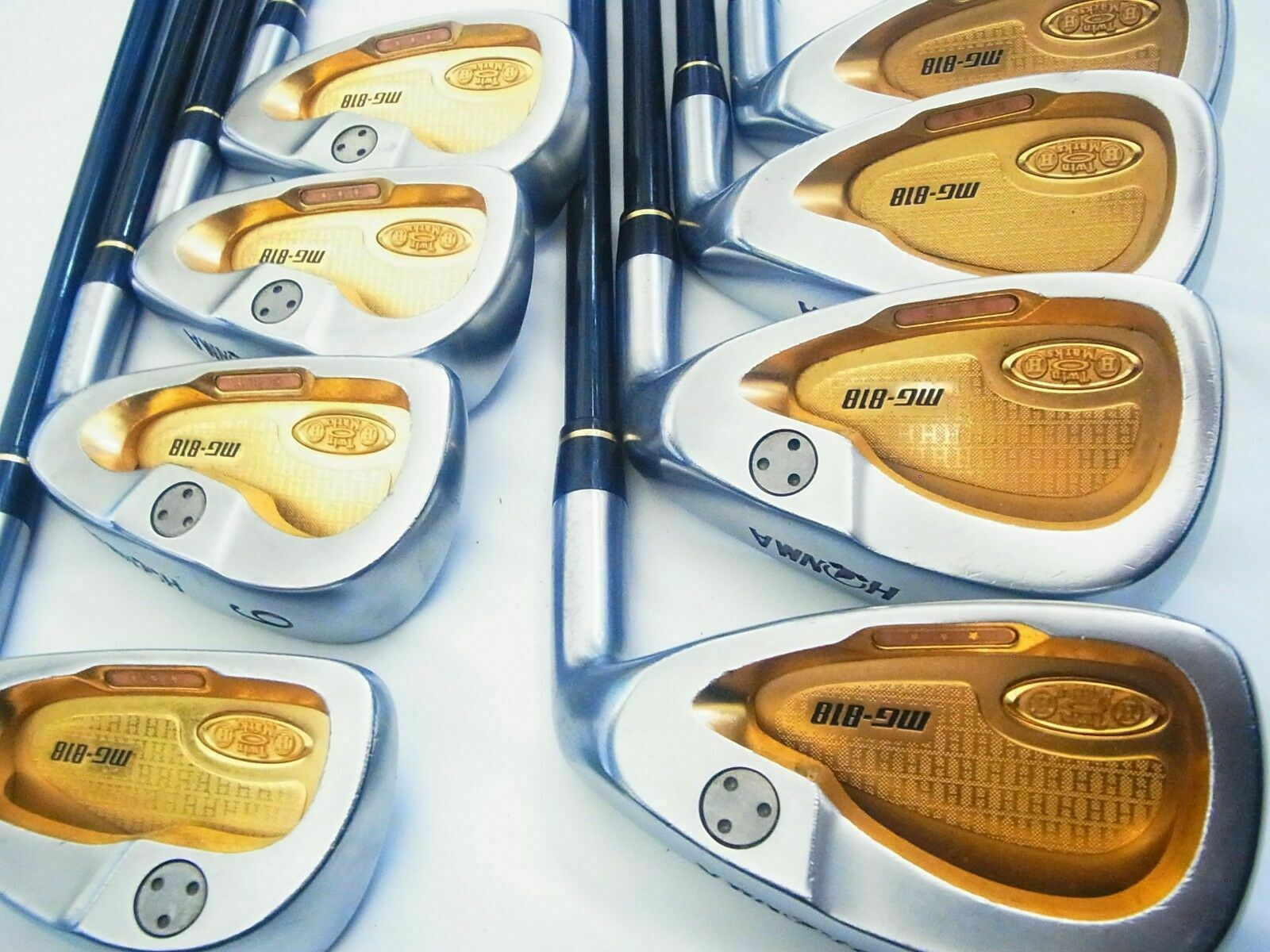 GOLF CLUBS IRONS SET 3-STAR HONMA TWIN MARKS MG-818 8PC R-FLEX BERES