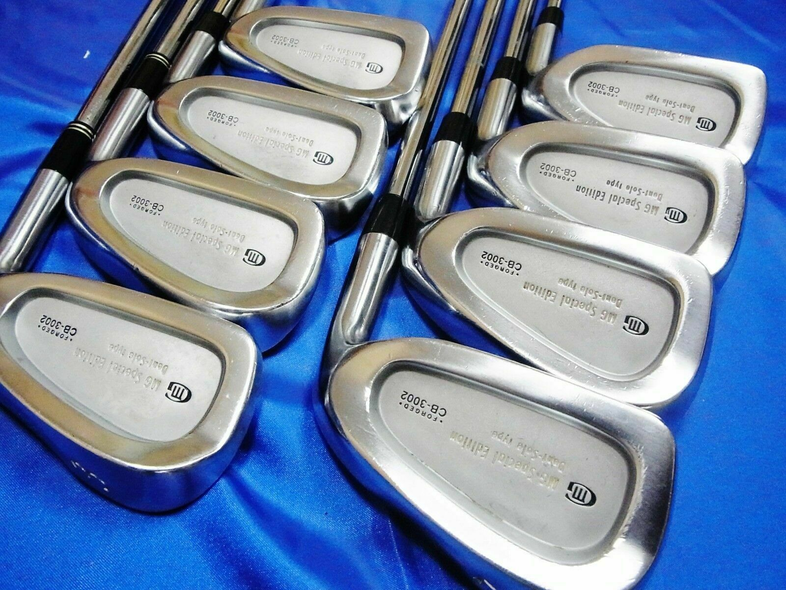 MIURA CB-3002 FORGED DENT SOLE 8PC STEEL R-FLEX IRONS SET GOLF CLUBS 827