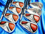 8PC VIVID RED MARUMAN VERITY RED-V R-FLEX IRONS SET GOLF CLUBS MAJESTY