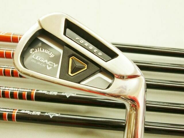 HENRIK STENSON TOUR-AD 2013 CALLAWAY LEGACY BLACK 6PC S-FLEX IRONS SET GOLF CLUB