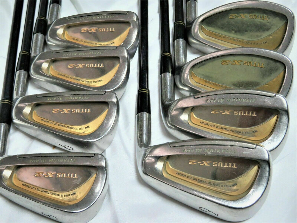 BEAUTIFUL GOLD 8pc MARUMAN Titus X-2 R-flex IRONS SET Golf Clubs
