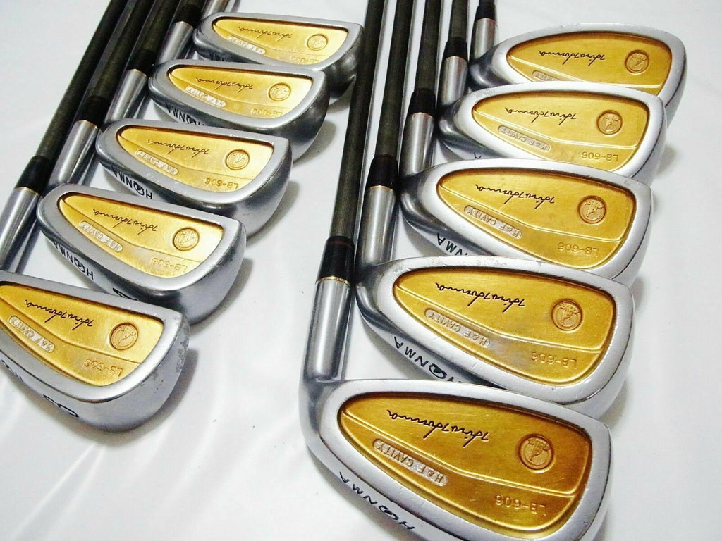 BACK FACE ALL GOLD 4-STAR  PERFECT 10PC HONMA LB606 R-FLEX IRONS SET 4188 BERES