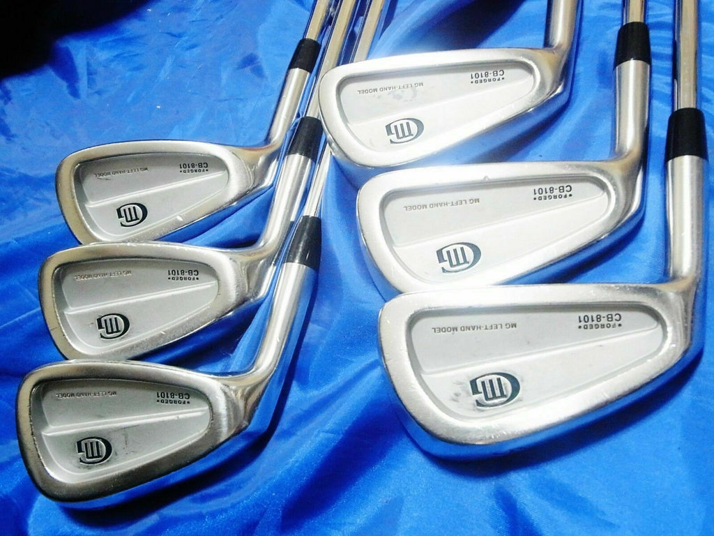 LEFT-HANDED 6PC MIURA CB-8101 FORGED NSPRO S-FLEX IRONS SET GOLF 9158