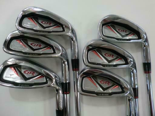 BRIDGESTONE TOUR STAGE X-BLADE GR 2010 6PC GS85 R-FLEX IRONS SET GOLF 10277