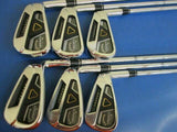 HENRIK STENSON 2013 CALLAWAY LEGACY BLACK 6PC S-FLEX IRONS SET GOLF CLUBS