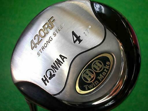 GOLF FAIRWAY WOOD HONMA TWIN MARKS 420RF 2-STAR LEFT-HANDED 4W LOFT-17 R-FLEX