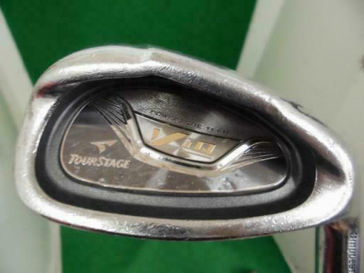 BRIDGESTONE  TOUR STAGE V-IQ 2010 8PC NSPRO S-FLEX IRONS SET GOLF 10267