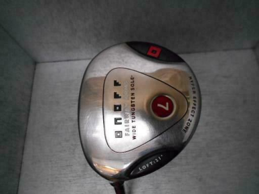 GOLF CLUBS FAIRWAY WOOD LEFT-HANDED DAIWA GLOBERIDE ONOFF ARMS 2008 7W S-FLEX