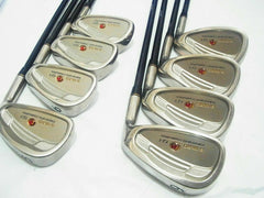 8PC!! SEIKO S-YARD GF-1 R-FLEX IRONS SET GOLF CLUBS 958