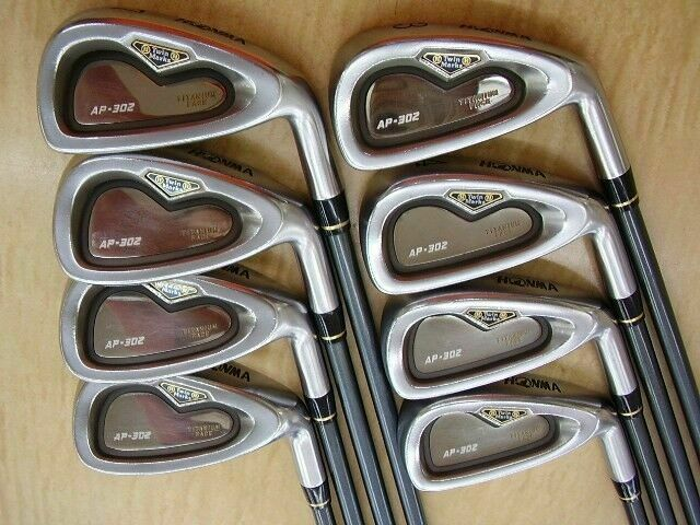 HONMA TWIN MARKS AP-302 8PC R-FLEX CAVITY BACK IRONS SET GOLF CLUBS BERES
