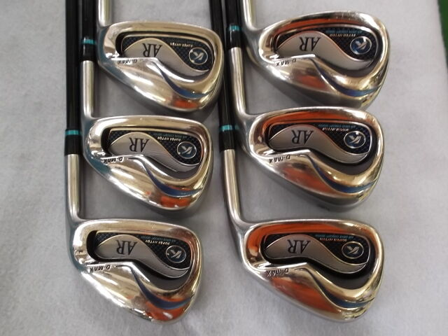 2012MODEL KASCO D-MAX AR 6PC S-FLEX IRONS SET GOLF CLUBS