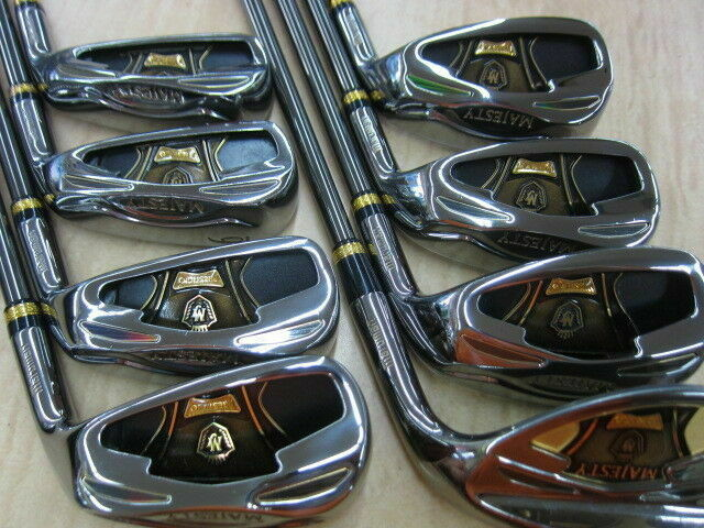 8PC MARUMAN MAJESTY PRESTIGIO SUPER 7 R-FLEX HYBRID IRONS SET GOLF CLUBS 777