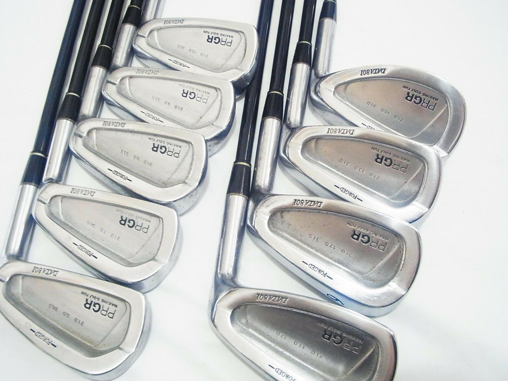 MIURA GOLF CLUBS DESIGN PRGR DATA 801 FORGED 9PC SR-FLEX IRONS SET