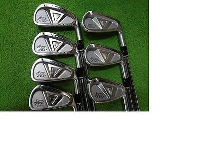PRGR iD Nabla Black Forged 7pc S-Flex IRONS SET Golf Clubs Excellent