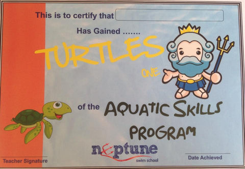 Turtles Certificate and Badge